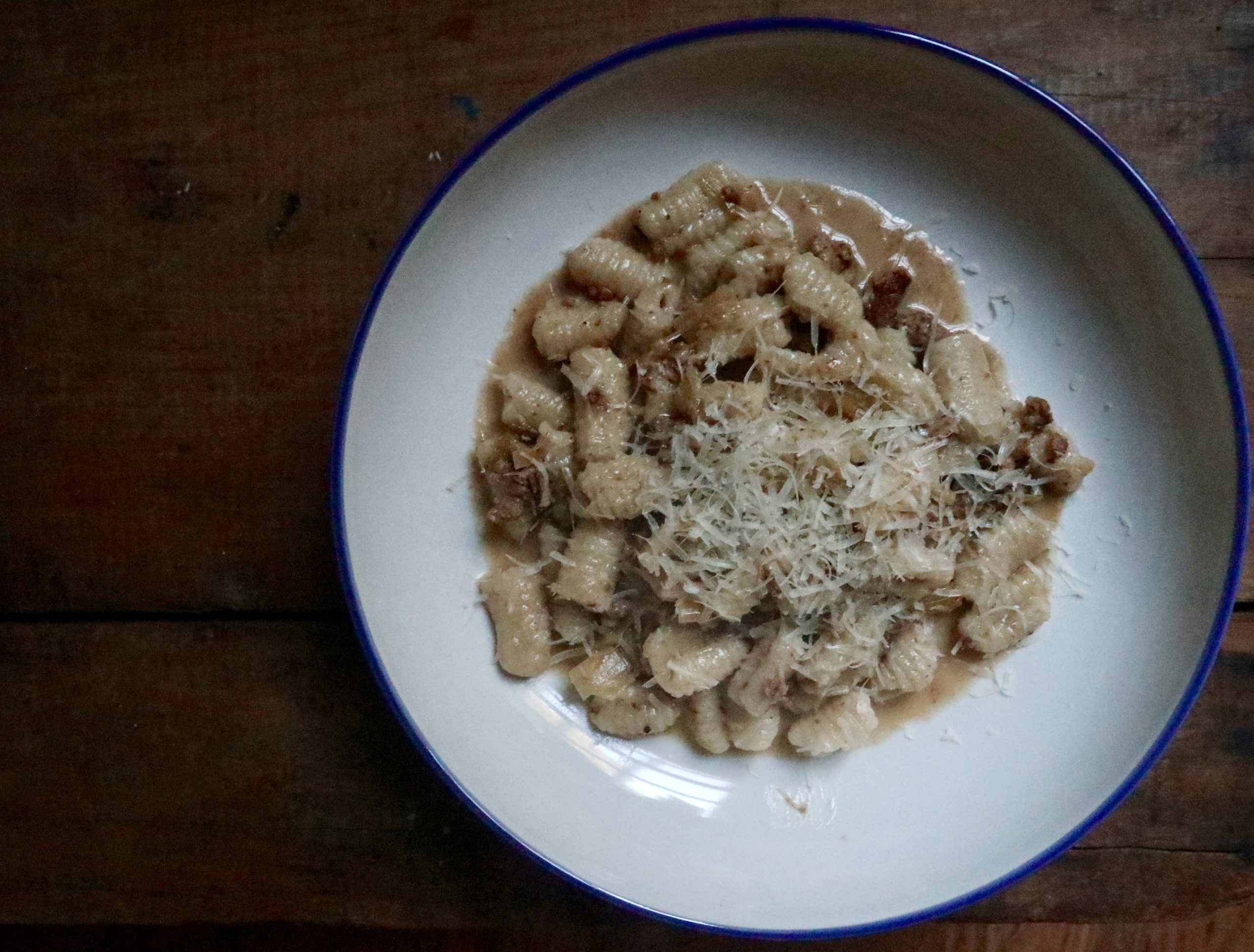 Cavatelli with Sausage & Leek Sauce