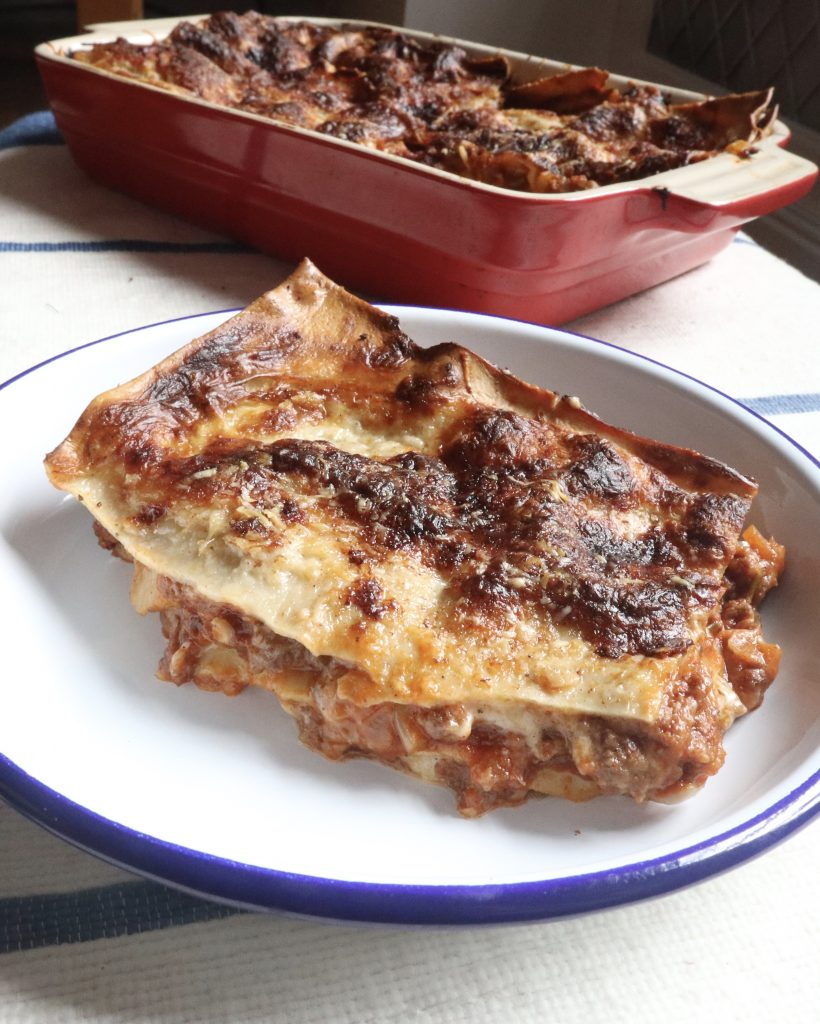 Lasagne, an example meal of private chef