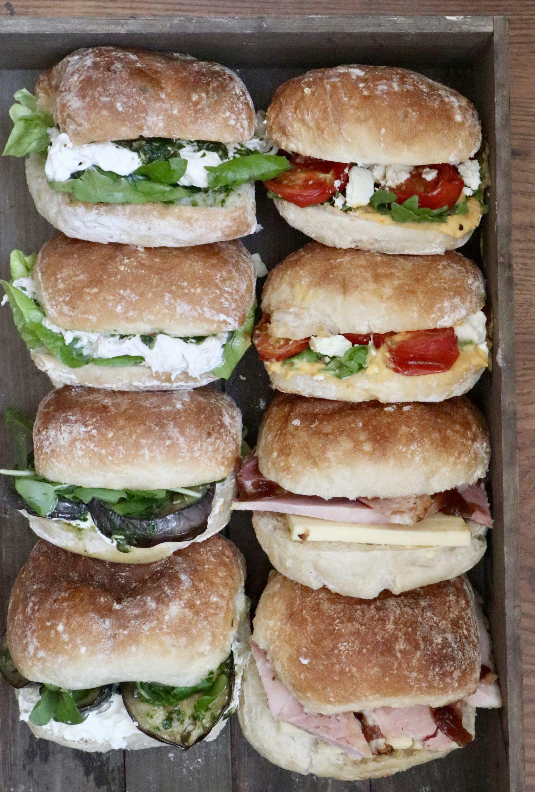 Sandwiches corporate catering menu