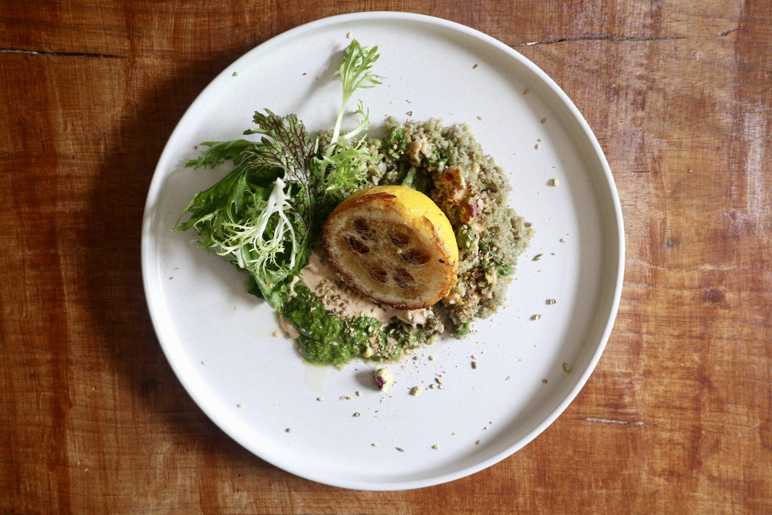 vegetarian option private catering menu